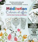 Méditation - Colorier et offrir : Cartes pour toutes occasions