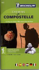 Chemin de Compostelle, Le Puy-en-Velay, St-Jean-Pied-de-Port 161 - Carte rég.