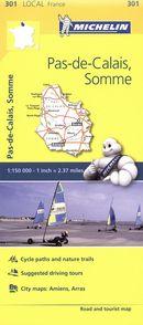 Pas-de-Calais, Somme 301 - Carte ville local