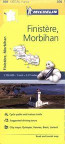 Finistère, Morbihan 308 - Carte ville loc. N.E.
