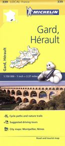 Gard, Hérault 339 - Carte ville local