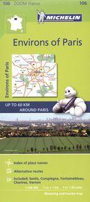 France Paris Environs of Paris 106 - Carte zoom
