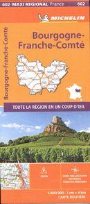 Bourgogne-Franche-Comté 602 - Carte régionale