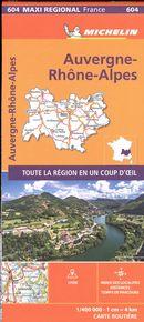 Auvergne-Rhône-Alpes 604 - Carte régionale