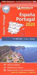 Espagne / Potugal 2020 - Carte indéchirable