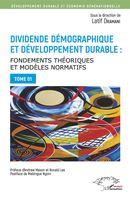 Dividende démographique et développement durable Tome 1