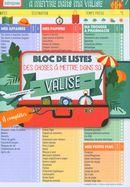 Bloc de listes des choses à mettre dans sa valise - Mémoniak 2020