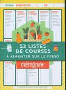 52 listes de courses à aimanter sur le frigo