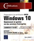 Windows 10 - Déploiement et gestion via des services d'entreprise : Préparation certification MCSA