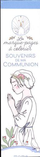 Souvenirs de ma communion - Les marque-pages à colorier
