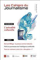 Les Cahiers du journalisme  - Série 2, numéro 2 - 2018