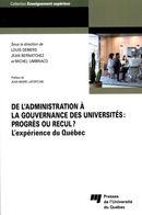 De l'administration à la gouvernance des universités : progrès ou recul?