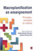 Macroplanification en enseignement : Principes, concepts et critères