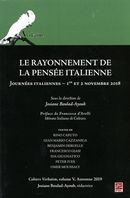 Le rayonnement de la pensée italienne - Cahiers Verbatim V