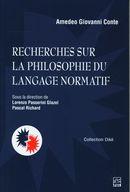 Recherches sur la philosophie du langage normatif