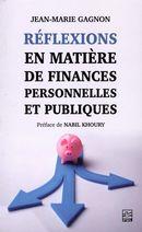 Réflexions en matière de finances personnelles et publiques