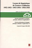 Leçons de linguistique de Gustave Guillaume. 1952-1953, 1953-1954, 1954-1955 30