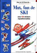 Max, fan de ski avec 150 stickers repositionnables