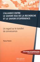 L'alliance entre le savoir issu de la recherche et le savoir d'expérience