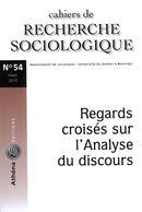 Cahiers de recherche sociologique 54