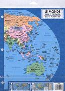 Le Monde : Pays et capitales - Carte plastifiée