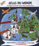 Atlas du monde : Coloriage éducatif géant avec autocollants