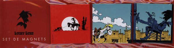 Pack 3 aimants Lucky Luke