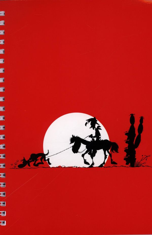 Carnet de notes spiralé rouge Lucky Luke