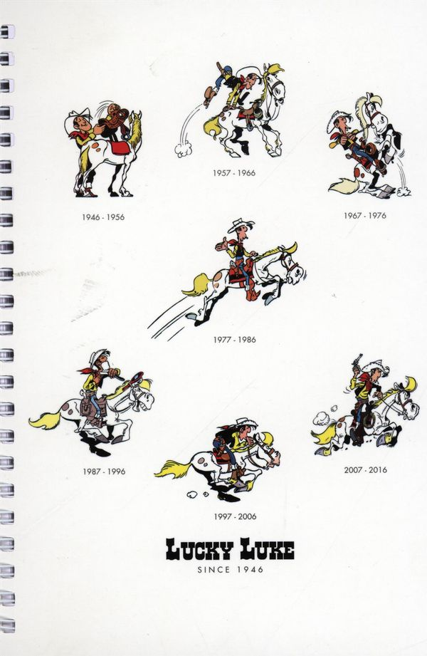 Carnet de notes spiralé blanc Lucky Luke