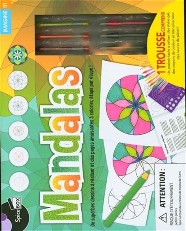 Mandalas : De superbes dessins à réaliser et des pages amusantes à colorier...