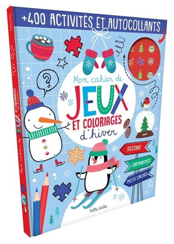 Mon cahier de jeux et coloriages d'hiver