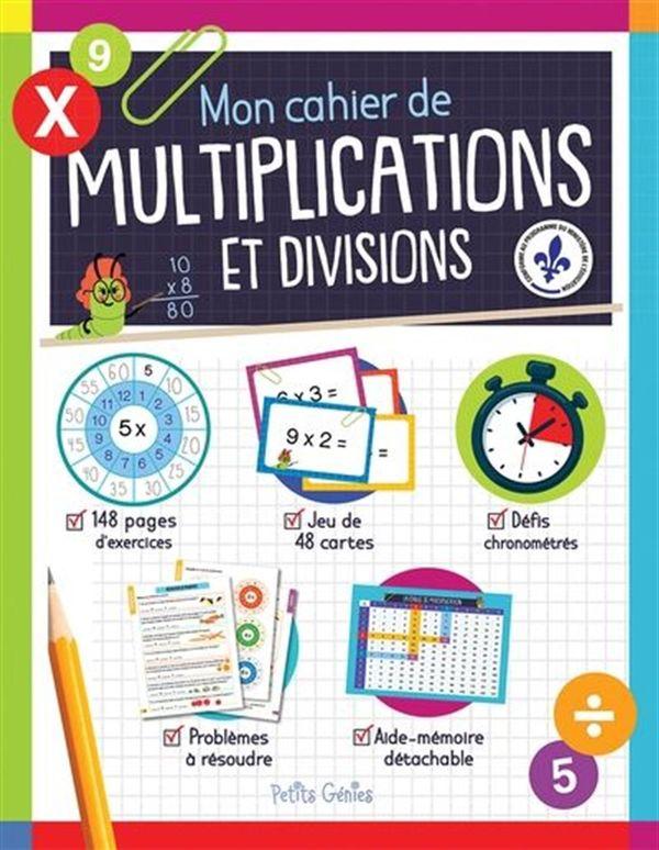 Mon cahier de multiplications et divisions