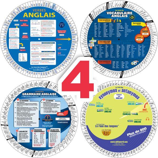 Combo 4 roues pour apprendre l'anglais