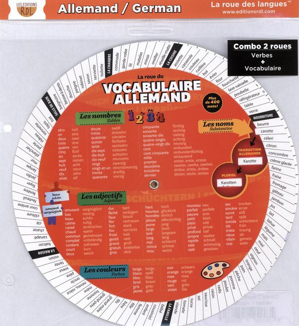 Combo 2 roues - Allemand : Verbes + Vocabulaire