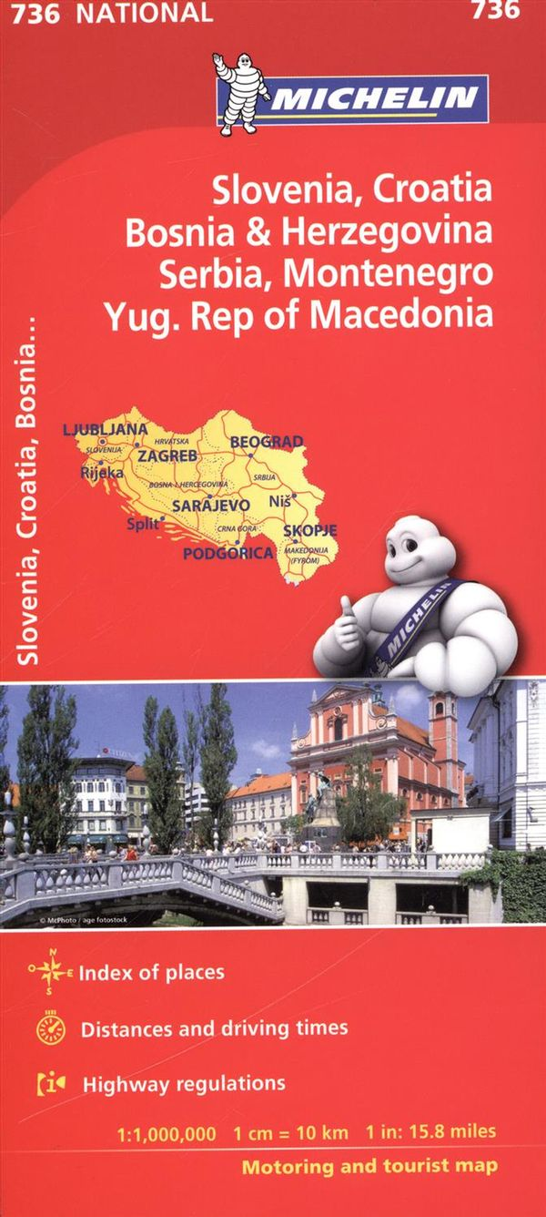 Slovenia, Croatia Bosnia & Herzegovina 736 - Carte national
