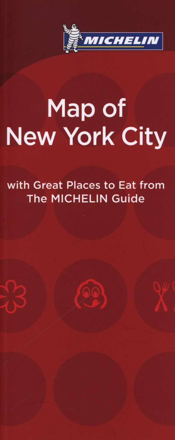 Map of New York City with Great Places to Eat 2016