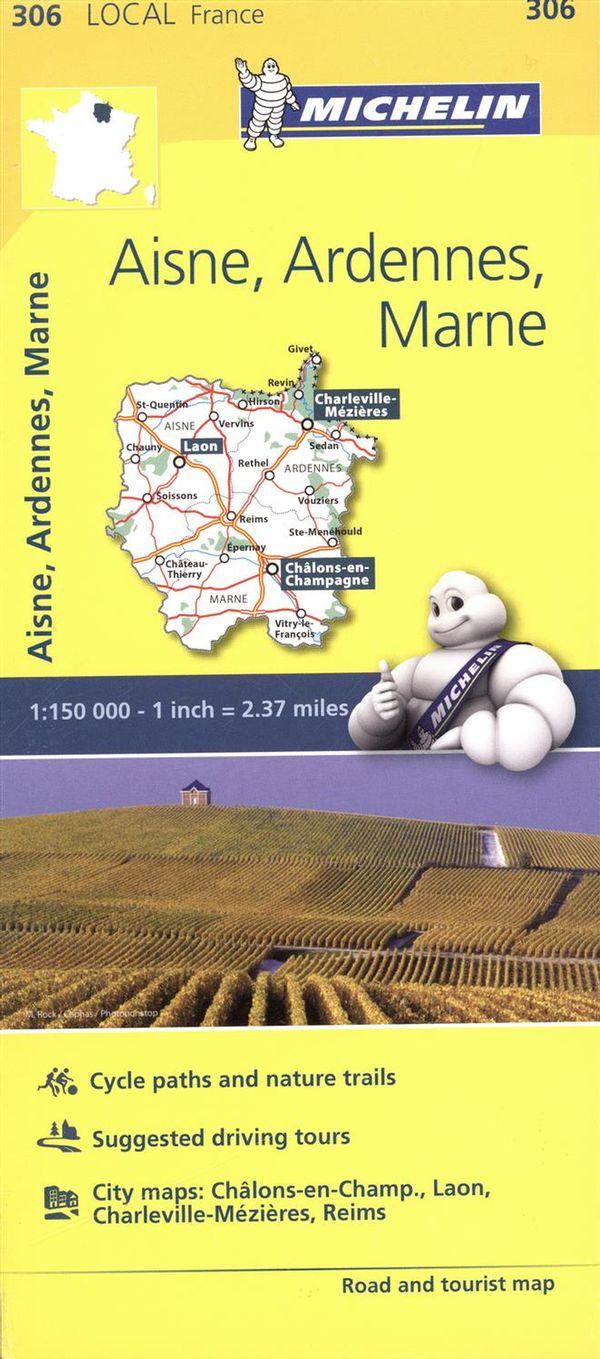 Aisne, Ardennes, Marne 306 - Carte ville local