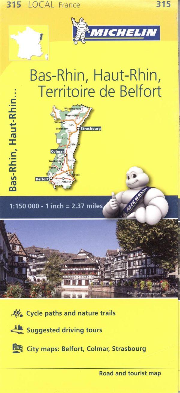 Bas-Rhin, Haut-Rhin, Territoire de Belfort 315 - Carte ville