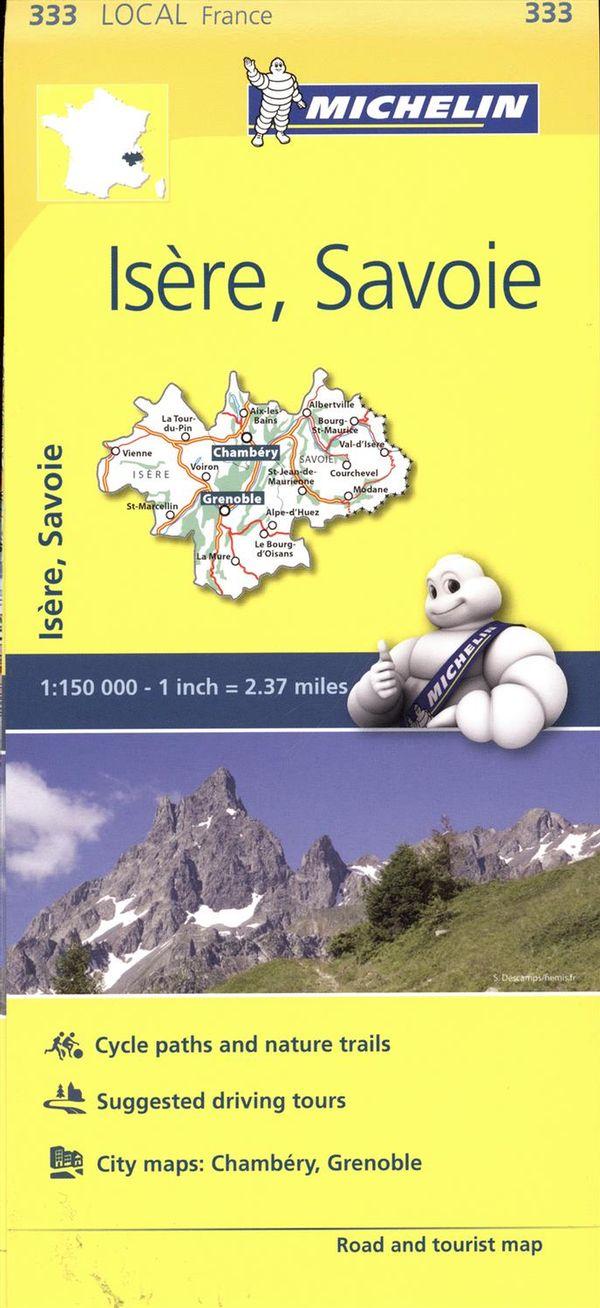 Isère, Savoie 333  carte ville local