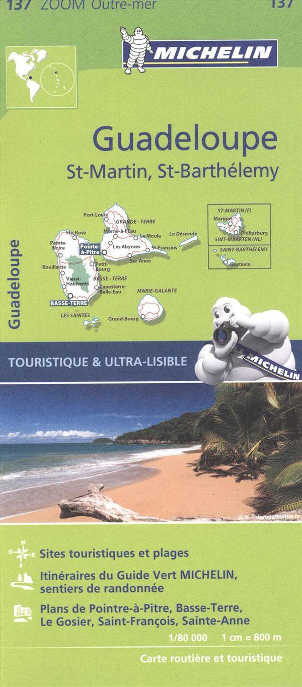 Guadeloupe - St-Martin, St-Barthélemy 137 - Carte zoom