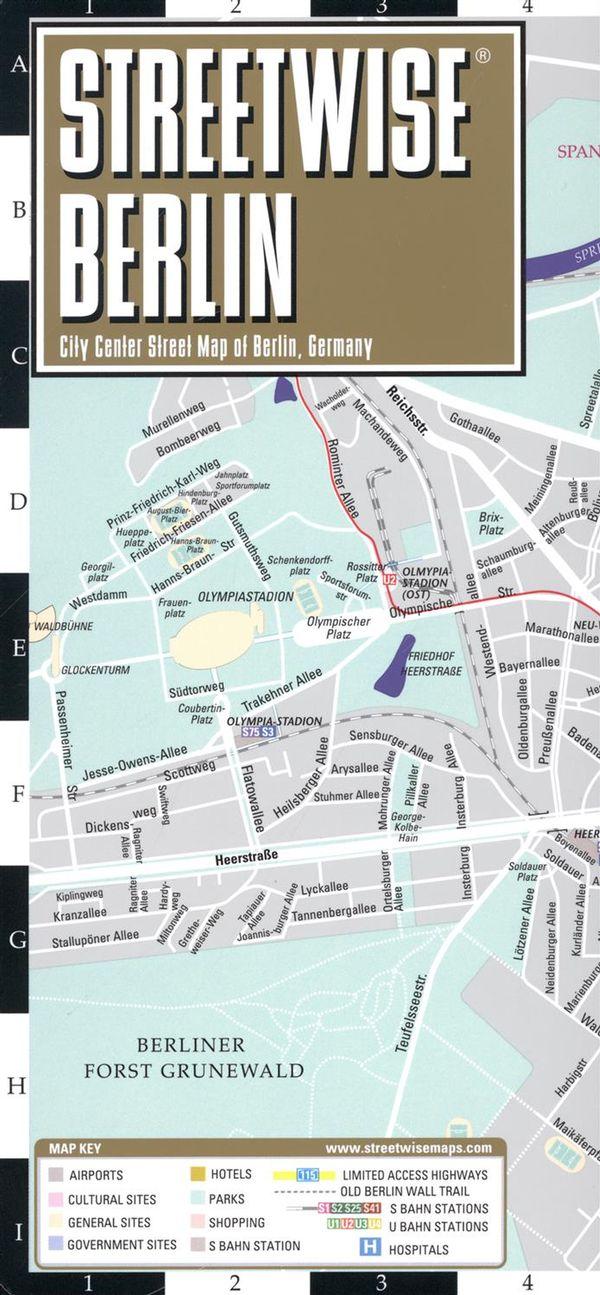 Streetwise Berlin Map