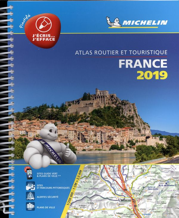 France 2019 - Atlas routier et touristique Plastifié