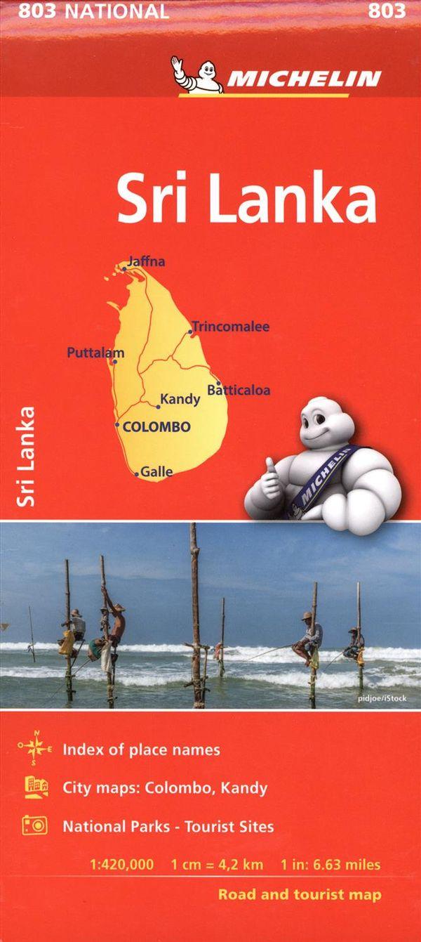 Sri Lanka 803 - carte national