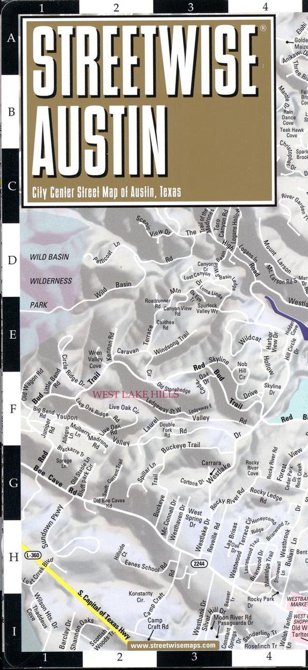Streetwise Austin map