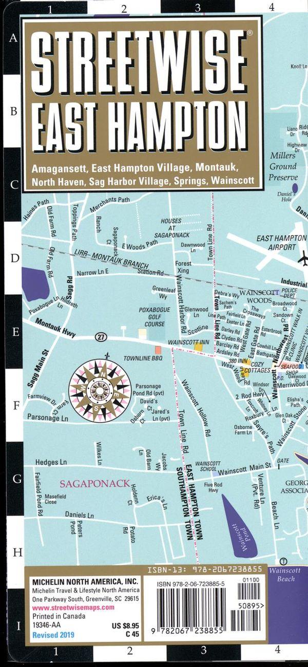 Streetwise East Hampton map