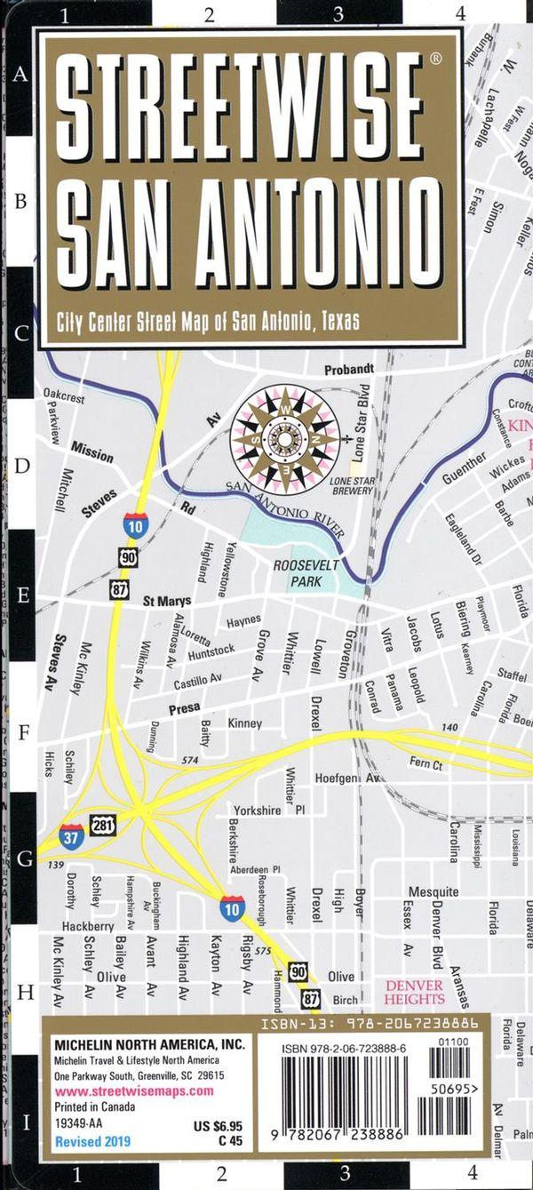 Streetwise San Antonio map