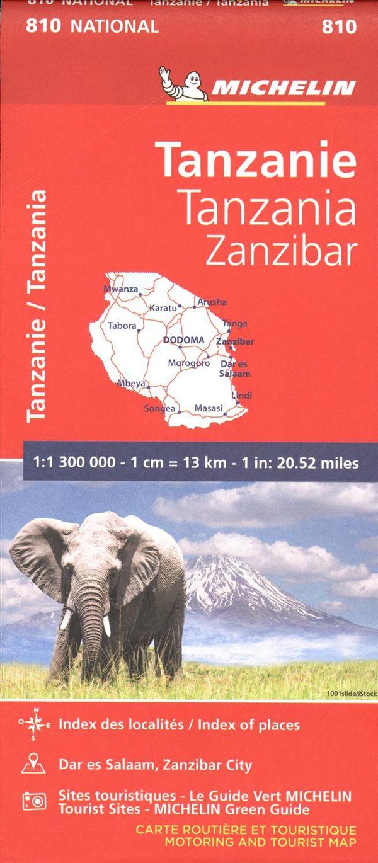 Tanzania-Zanzibar 810 - Carte nat.