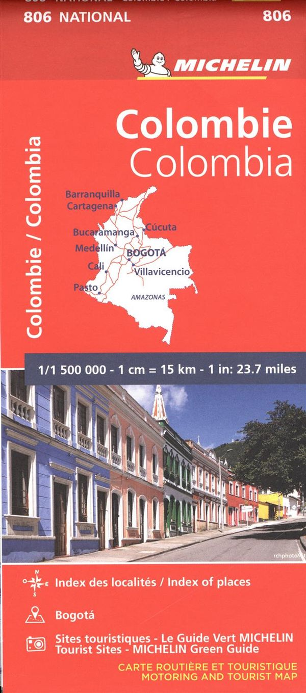 Michelin Colombia Map 806