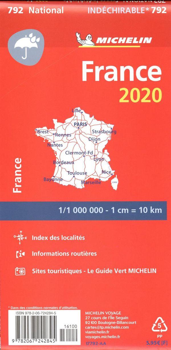 France 2020 - Carte Indéchirable