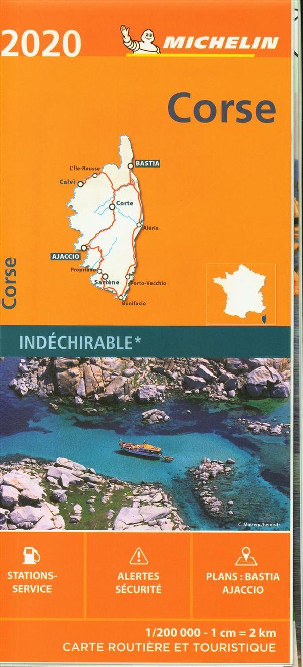 Corse 2020 528 - Carte rég. indéchirable